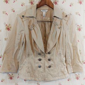 White House Black Market khaki jacket 3/4 sleeve